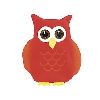 Cute Red Owl Applique Knit Cover 750ml Hot Water Bottle