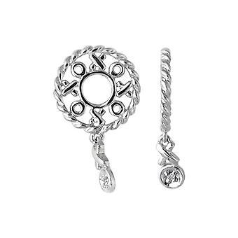 Storywheels Silver & Diamond Hug and Kisses Dangle Charm S111D