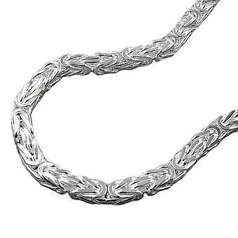 Cadena aprox. 4mm cadena rey Plaza brillante plata 925 55 cm