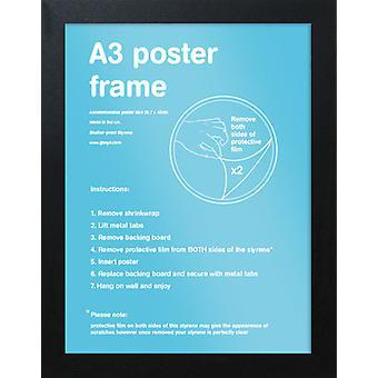 Eton Black Frame A3 Poster / Print Frame