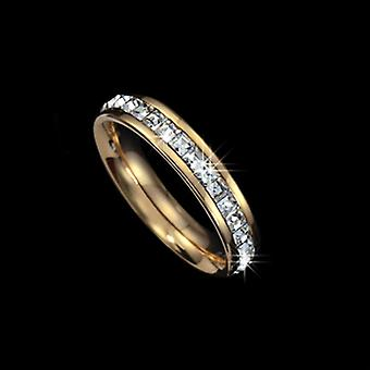 18K Gold Plated Square Cubic Zirconia Ring