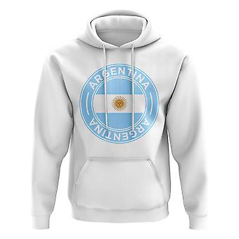 Argentina Football Badge Hoodie (White)