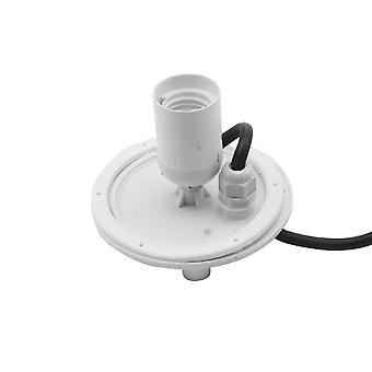 Mantra E27 Plate 1 Light Outdoor IP44 Supplied With 5M Cable, White