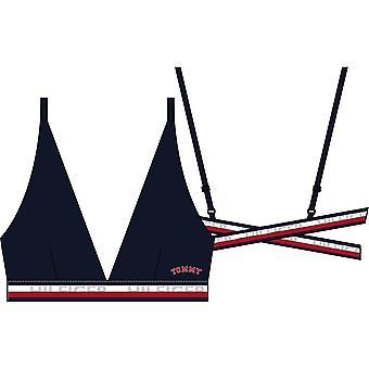 Tommy Hilfiger Tommy Cross-Back Triangle Bralette - Navy Blazer