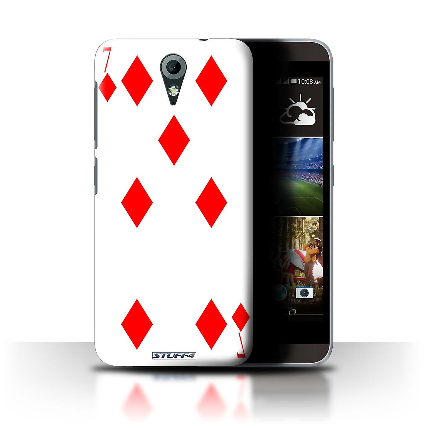 STUFF4 Case/Cover for HTC Desire 820 Mini/7 of Diamonds/Playing Cards