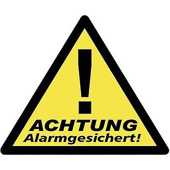 Warning label Warning Alarm Secured Languages German 3-piece set