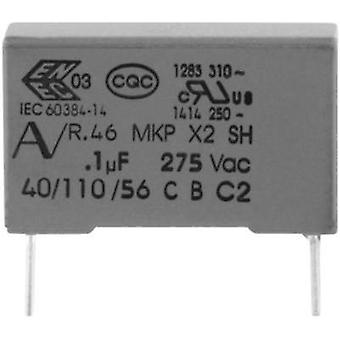 MKP suppression capacitor Radial lead 100 nF 275 V 20 % 15 mm (L x W x H) 18 x 5 x 11 Kemet R46KI310000M1M+ 1 pc(s)