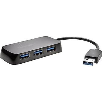4 ports USB 3.0 hub Kensington UH4000 Black