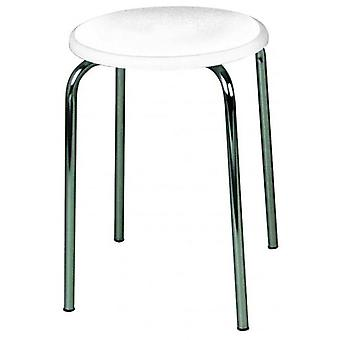 Wenko bathroom stool, with white mdf plate
