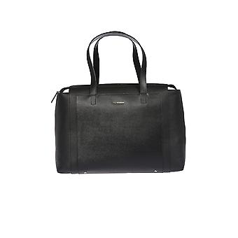 Trussardi woman's handbag 100% genuine leather Saffiano Calf-37x27x18 Cm