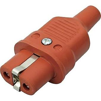 Hot wire connector ATT.LOV.SERIES_POWERCONNECTORS 344 Socket, straight Total number of pins: 2 + PE 16 A Red Kalthoff