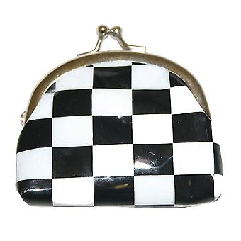 Black And White Checked Purse alternative cute personal coin purse checks