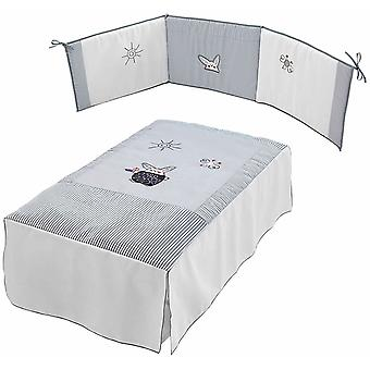 Micuna Bedding + Protector + Game Pack Linen Textile Grey Rabbit