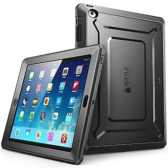 iPad 4 Fall, SUPCASE, Einhorn-Käfer-PRO-Serie, Ganzkörper-robuste Hybrid Protective Case Cover mit eingebautem Bildschirm schwarz /