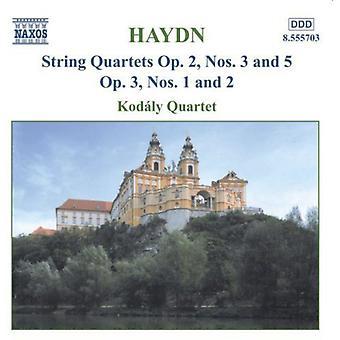 J. Haydn - Haydn: Strygekvartetter, op. 2/3, 2/5, 3/1, 3/2 [CD] USA import