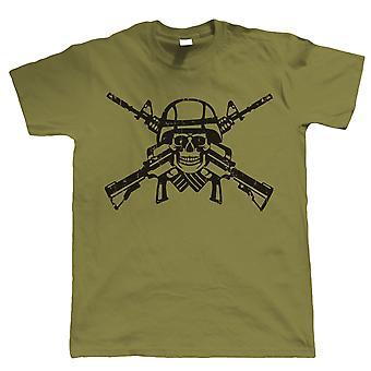 Shooter Skull & Crossbones, Mens Gamer, Airsoft or Paintball T Shirt