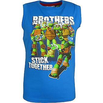 Haut gilet T-shirt sans manches à garçons Nickelodeon Ninja Turtles