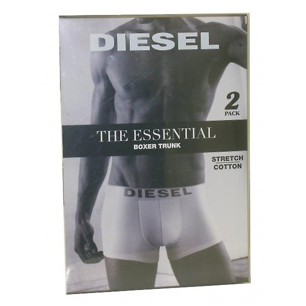 Diesel The Essential 2-Pack Boxer Trunks, Black/Grey