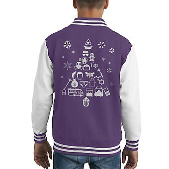 Breaking Bad Christmas Tree Silhouette bianco Varsity Jacket del capretto