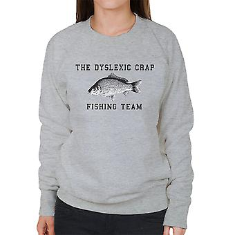 Ordblind Crap fiskeri Team Black Women's Sweatshirt