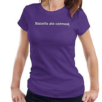 Babette Ate havremel Gilmore Girls Womens t-skjorte