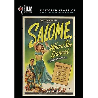 Salome hvor hun dansede [DVD] USA importerer
