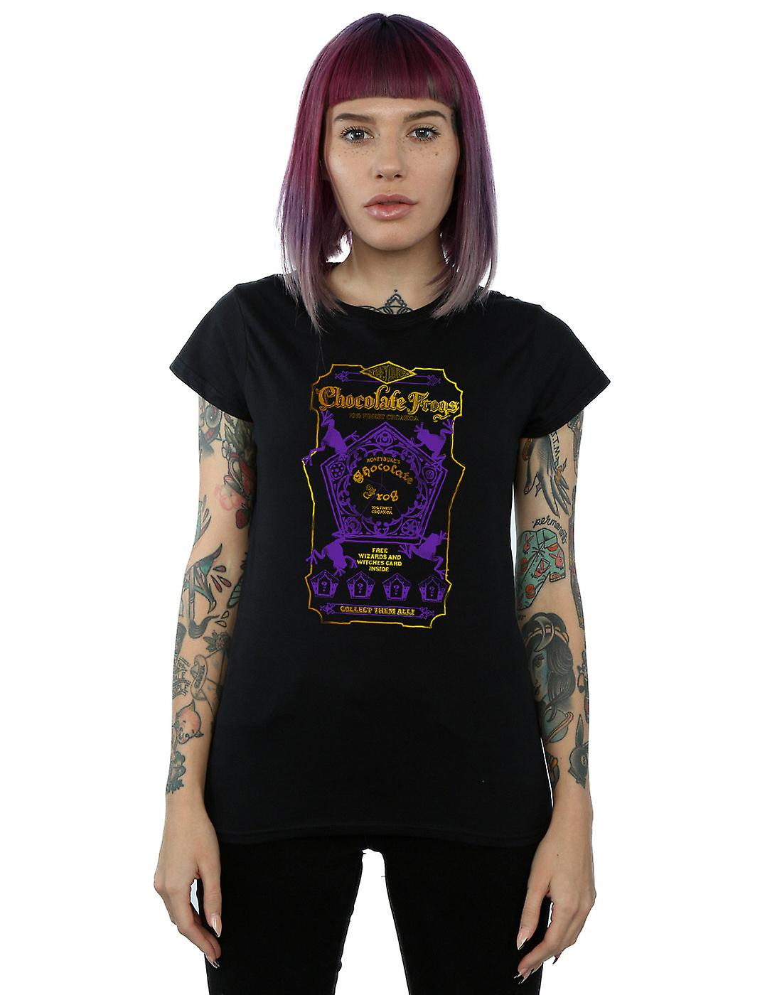 Harry Potter Women's Chocolate Frogs Coloured Label T-Shirt