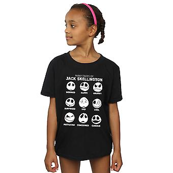 Disney Girls Nightmare Before Christmas The Many Faces Of Jack T-Shirt