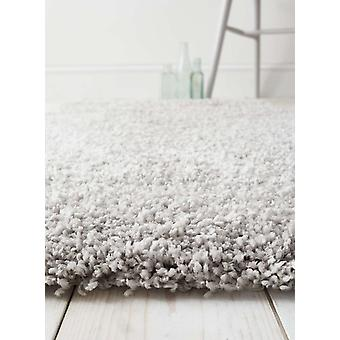 Luxurious Light Grey Non Shed Shaggy Rug