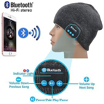 ONX3  (Dark Grey) Unisex One Size Winter Bluetooth Beanie Hat with Built-in Wireless Stereo Speaker Headphone For LG X venture