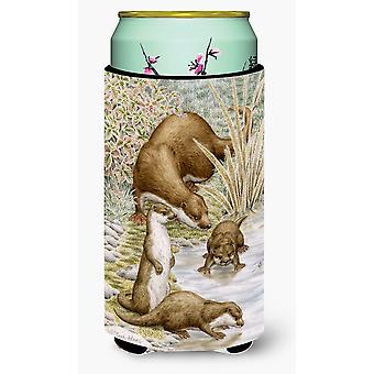Carolines Treasures  ASA2075TBC Otter Family Tall Boy Beverage Insulator Hugger
