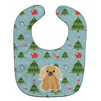 Carolines Schätze BB4764BIB Weihnachten Pekingnese Fawn Sable Baby Lätzchen