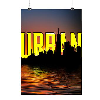 Matte or Glossy Poster with Urban City Night Fashion | Wellcoda | *q165