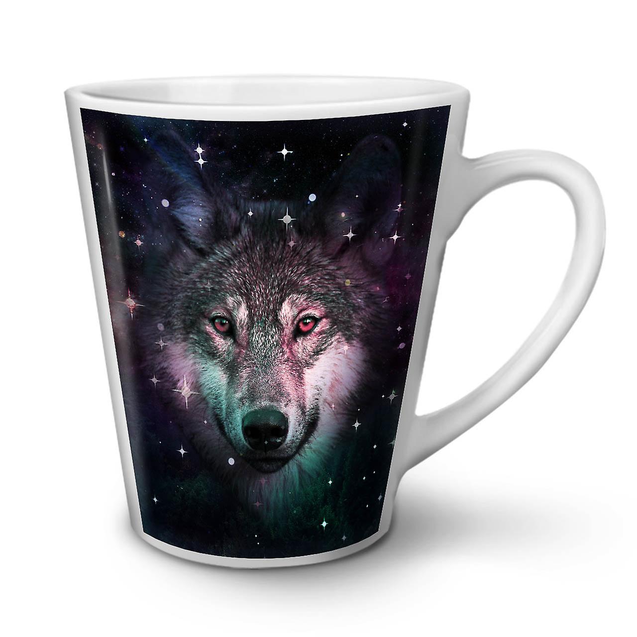 OzWellcoda Café Blanche Loup Céramique 12 Cosmos Nouvelle Animal Tasse En Latte Espace zqMpSVU