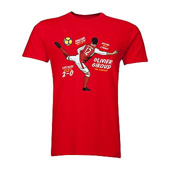 Olivier Giroud The Scorpion T-Shirt (Red) - Kids