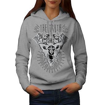 Nature Triangle Women GreyHoodie | Wellcoda