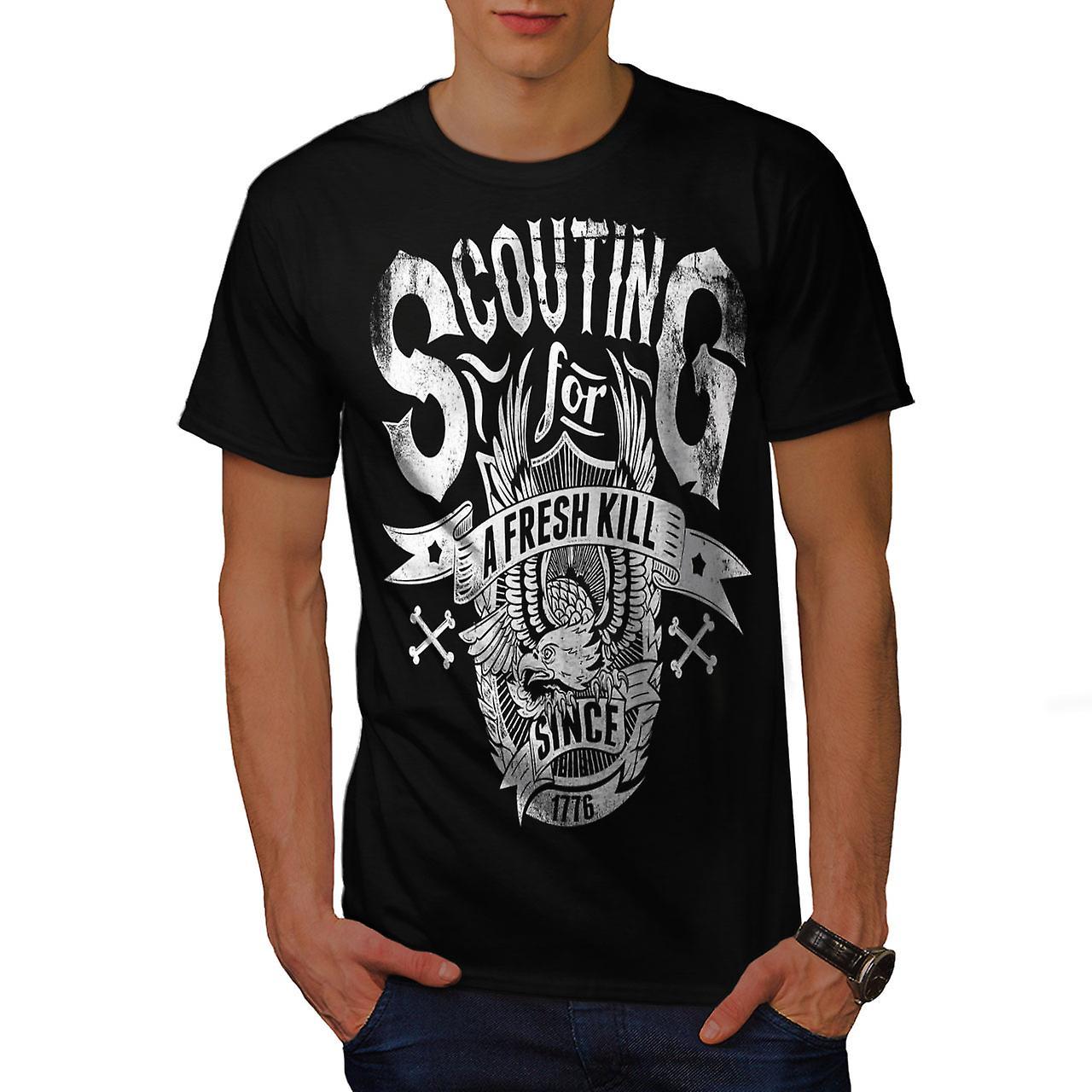 Scouting For Kill Vintage Men Black T-shirt   Wellcoda