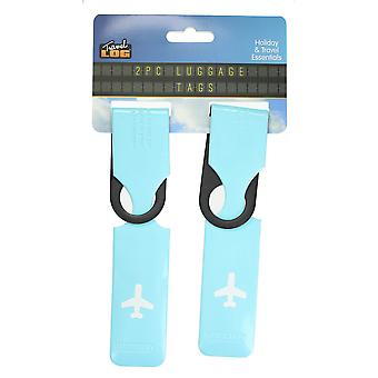 Luggage Tag Pack of 2 Travel Log Holiday Baggage Label Holiday Travel Essentials