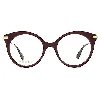 Gucci GG0109O Glasses In Burgundy