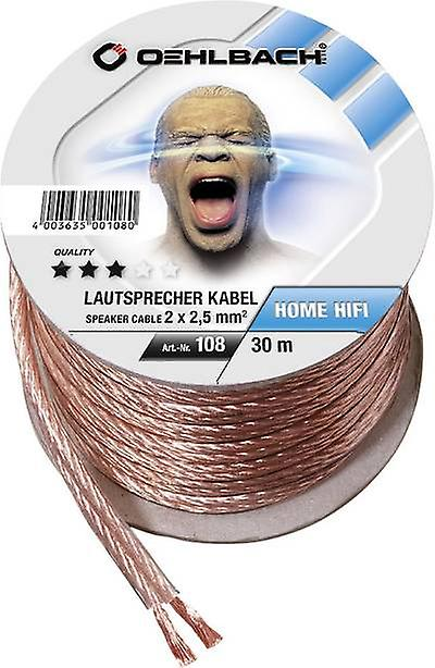 Speaker cable 2 x 2.50 mm² Transparent Oehlbach