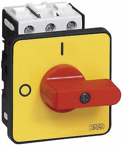 Power switch 25 A 1 x 90 ° Yellow, Red