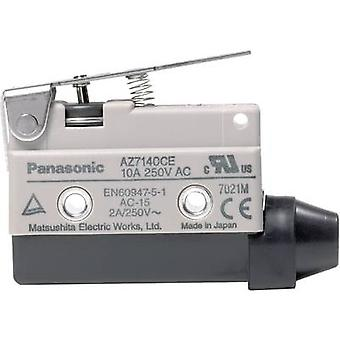 Limit switch 115 Vdc, 250 V AC 10 A Steel lever (straight) momen