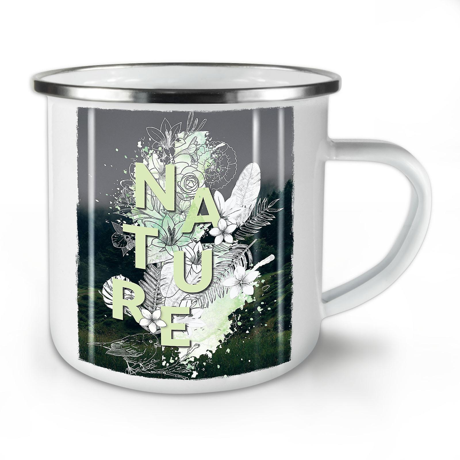 Mug10 Café Whitetea Style Émail OzWellcoda Nature Nouveau 6IfbgvmY7y