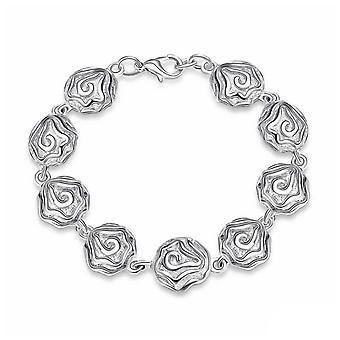 Womens Mesdames Rose Design charme Bracelet Gourmette homard étroite BG1725