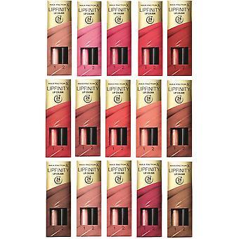 Max Factor Lipfinity Lippenstift zwei Schritt neu In Box - wählen Sie Ihren Farbton