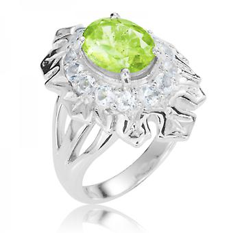Ladies Shipton och Co Silver och Peridot Ring RQA440PEWT