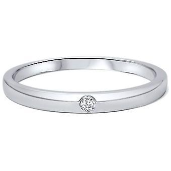 1 / 30ct 2.5 mm Solitaire diamant belofte trouwring 14K