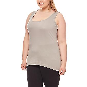 Rib knit top plus size grey B.C.. best connections