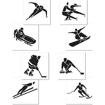 Vintersport utskärningar