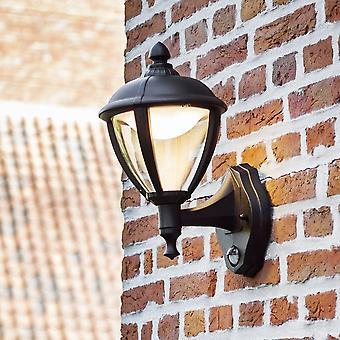 LuTec unir hasta 9W PIR linterna luz de pared LED Exterior en negro